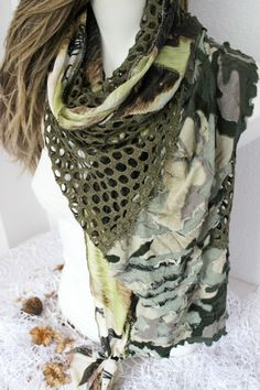 Olive Green Scarf Scarf Dark Green Dark Green by Nazcolleccolors