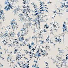Chinoiserie Fabric, Chinoiserie Wallpaper, Fabric Wallpaper, Of Wallpaper, Wallpaper Patterns, Nanjing, The Design Files, Blue China, China Patterns