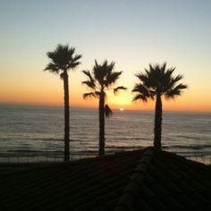 Sunset at Carlsbad State Beach, California