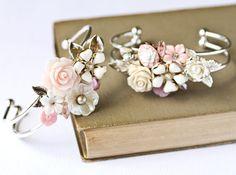 Bridesmaid Gift Custom Order 4 Bridesmaids Bracelets by lonkoosh