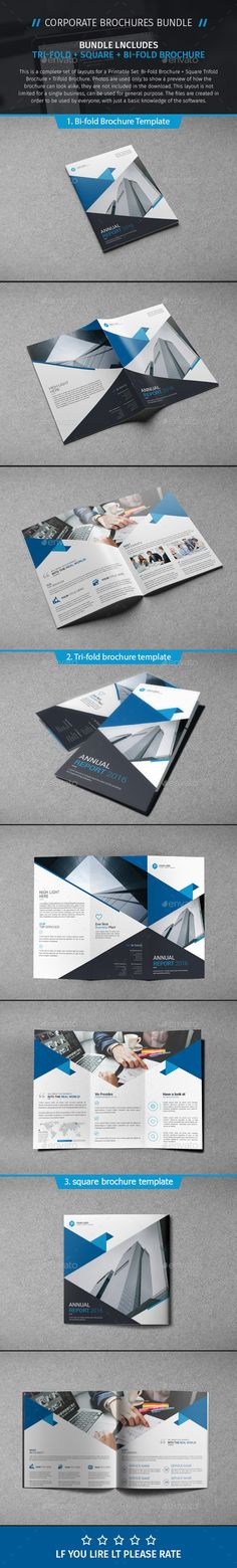 3 Brochure Templates PSD. Download here: https://graphicriver.net/item/brochure-bundle-05/16974695?ref=ksioks
