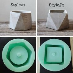 This Silicone Mold Geometric flower pots Concrete Cement vase is just one of the custom, handmade pieces you'll find in our molds shops. Concrete Candle Holders, Diy Concrete Planters, Concrete Cement, Concrete Crafts, Concrete Projects, Suculentas Interior, Cement Flower Pots, Cement Art, Beton Diy
