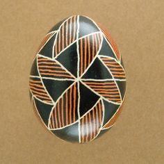Pysanky Ukrainian Easter Egg Bowtie Hand Decorated Chicken Egg
