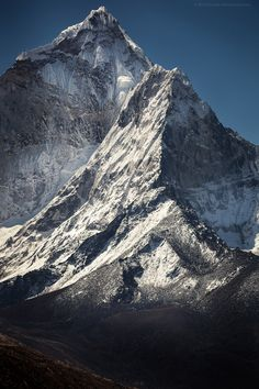 West Face of Ama Dablam (by Zolashine)