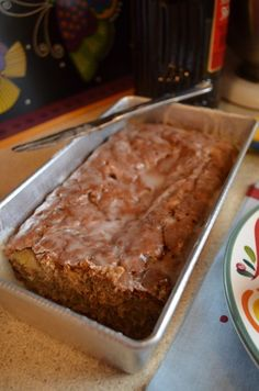 Caramelized Banana Amaretto Bread.
