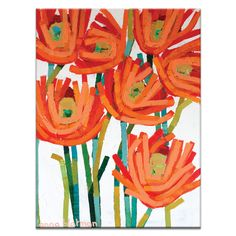 Orange Buds Stretched Canvas | More Sizes Available by Artist Lane presents Anna Blatman on POP.COM.AU