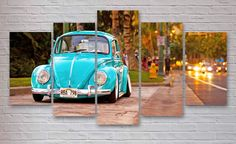 Volkswagen Beetle - Bug - Classic Car 5 Piece / Panel Canvas  - Wall Art - Office - Bedroom Wall Art - Multi Panel - #050 by CanvasboxShop on Etsy https://www.etsy.com/listing/490549863/volkswagen-beetle-bug-classic-car-5