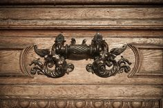 Romanian Atheneum (door detail) by Dominuz, via Flickr