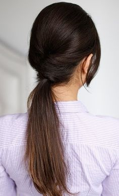 french twist updo and a pony