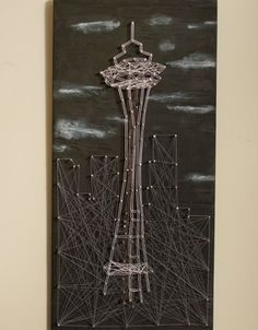 Seattle String Art. A Golden Gate bridge string art would look cool.