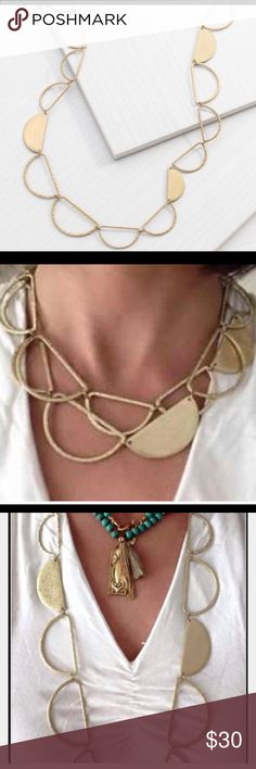 Silpada half moon necklace. Silpada fun, light weight half moon necklace NWT, 30 inches long and cans be doubled. Comes wrapped with a free gift. Same day shipping. $79 plus tax & shipping retail. Silpada Jewelry Necklaces
