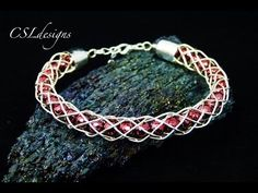 Hollow wirework kumihimo bracelet - YouTube