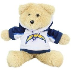 "San Diego Chargers 8"" Fuzzy Hoody Bear"