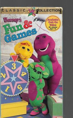 Barney - Barney's Fun and Games VHS,