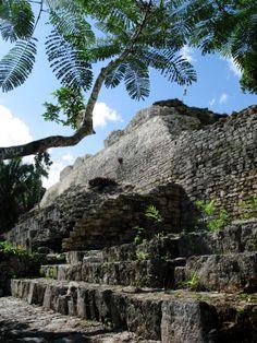 Mayan Ruins, Kohunlich, Yucatan Peninsula, Mexico