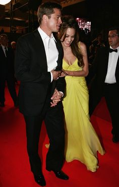 Angelina rests her head on Brad's shoulder at the Cannes Film Festival 2007