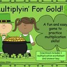 In honor of St. Patrick's Day I have created a FREE multiplication game! It's competitive, fun, and great for practicing facts (every round is diff...