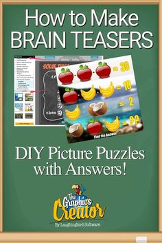 Businesses, teachers, social media managers: Brain teasers are fun, challenging, and improve engagement and attention. More importantly, visual images of riddles and puzzles are fun! Create your own in minutes.