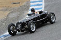 1926 Delage 15-S-8 Grand Prix down the Corkscrew at Laguna Seca Raceway