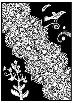 Art free mandala coloring page for adults