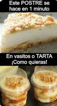 Easy Desserts, Delicious Desserts, Yummy Food, Dessert In A Jar, Sin Gluten, Mini Cakes, Diy Food, Food Truck, Food Videos