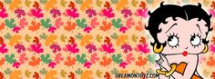 Betty Boop Facebook Timeline Covers with Names: Fall Leaves