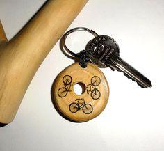 Keychain 3 bicycles. Keychains bikes key chain by NayasArt on Etsy