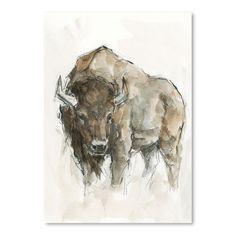Americanflat American Buffalo Ii By Ethan Harper By World Art Group Unframed Print : Target