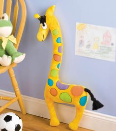 This stuffed giraffe is the perfect pal for your little one!
