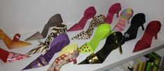 More paper shoes...I used papers from greeting cards, card stock, paper from gift bags...