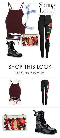 """Spring Looks"" by lilyritchings ❤ liked on Polyvore featuring Dolce&Gabbana, Demonia and H&M"