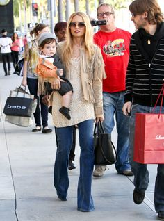 Stylist Rachel Zoe and husband Rodger Berman out shopping with ...