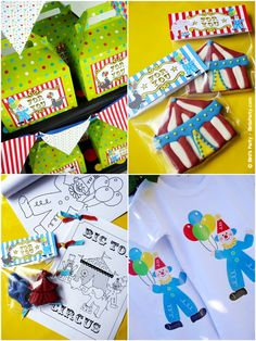 Circus Carnival Birthday Party Favors Ideas