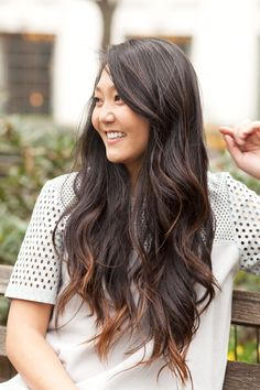 """2 Readers Rock Spring Makeovers #refinery29  http://www.refinery29.com/hair-makeovers#slide4  Sara, designer for Gap Kids Sara's guilty of something so many of us do: wearing long layers for years. """"I've always kept it long with lots of layers and a sweeping side bang,"""" she says. But, when it comes to her color, she's got some adventure under her belt. """"Probably three or four years ago I decided to get an ombré. I wanted a little bit of change but wasn't sure I wanted the upkeep."""" Then, she…"""