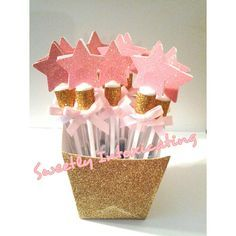 12 Twinkle Twinkle Little Star pink & gold bubble wands. Princess theme, 1st birthday, party favor or decor. Twinkle Little Star theme
