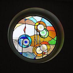 https://flic.kr/p/6oyXmC | Round stained glass window - own design. | Round stained glass window - design and Roel Hildebrand. Alkmaar glazier - studio for stained glass.