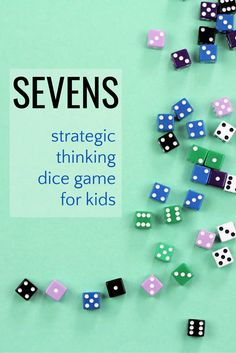 Sevens is a fun easy dice game for kids that helps them practice their strategic thinking skills and reinforce basic math skills. Fun New Games, Kid Games, Family Games, Simple Games For Kids, Games To Play With Kids, Kids Learning Activities, Fun Learning, Board Games For Couples, Creative Class