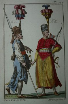 Moyen age--- Bild eines französischen Kostümbuches von ca 1770
