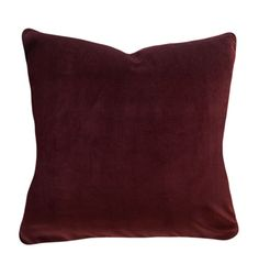 Rust Velvet Pillow Cover - Throw Pillow - Accent Pillow - Both Sides - Toss Pillows, Accent Pillows, Rust Orange, Velvet Pillows, Decorative Pillow Covers, Lumbar Pillow, Plush, Stylish, Fabric