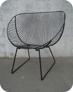 Coromandel Chair Collect Living is part of Wire chair style metal wire chair Lovingly handcrafted, the wires are moudled and shaped to create a chair with wide scoop and angled back Zinc pri - Industrial Design Furniture, Industrial Chair, Industrial Interiors, Vintage Industrial, Furniture Design, Furniture Projects, Garden Furniture, Furniture Dolly, Industrial Metal