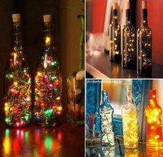 Pra quem quer ser bem prático na decoração de natalina, não quer ter o trabalho de montar e desmontar árvores de Natal, adica pra deixar sua casa diferente e muito bonita é usargarrafas de…
