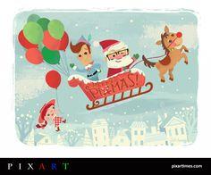 Merry Pixmas - Jill Howarth - http://jillhowarth.carbonmade.com #PixArt