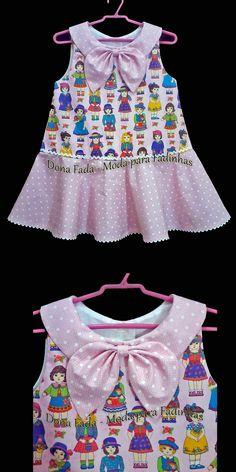 Vestido 3/4 anos - Trapézio estilizado, com saia godê _______________baby - infant - toddler - kids - clothes for girls - - - https://www.facebook.com/dona.fada.moda.para.fadinhas/