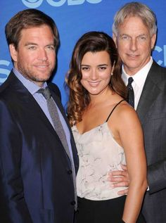 Michael Weatherly, Cote de Pablo, and Mark Harmon (Tony, Ziva, and Gibbs - NCIS)