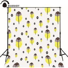 Allenjoy Photographic background Tree triangle white yellow newborn vinyl backdrops  photo for studio custom camera fotografica