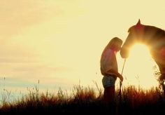 a girl and her horse...no words can describe.