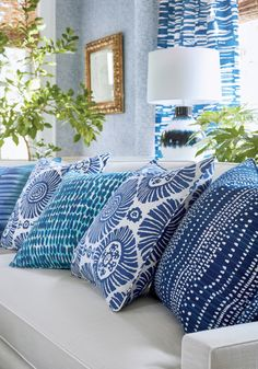 Pinellas from Tropics Collection Turquoise Pillows, Navy Pillows, Throw Pillows, Water Printing, Printing On Fabric, Tropical Design, Fine Furniture, Fabric Patterns, Home Accessories