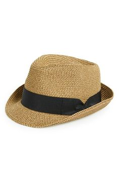 Free shipping and returns on BP. Straw Fedora (Juniors) at Nordstrom.com. A wide grosgrain band wraps an earthy fedora shaped in richly textured straw.
