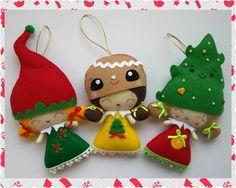 Listo para enviar conjunto de tres fieltro muñecos de