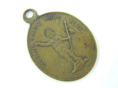 Rare Antique Dutch Saint Verone Catholic Medal - Religious Charm - Patron St of…